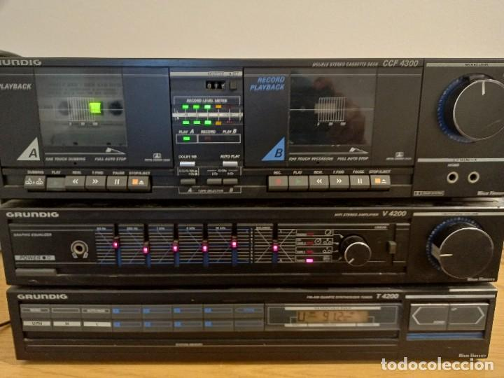 EQUIPO GRUNDIG V4200 AMPLIFICADOR DOBLE PLETINA CASETTE TAPE Y RADIO FUNCIÓNA TODO (Radios, Gramófonos, Grabadoras y Otros - Amplificadores y Micrófonos de Válvulas)
