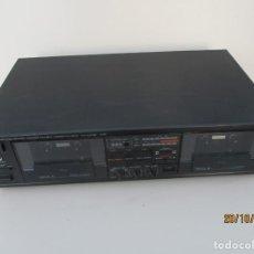 Radios antiguas: YAMAHA DOBLE PLETINA MODELO: KXV-202 NECESITA POLEAS NUEVAS Y LIMPIEZA DE ZONA DE POLEAS. Lote 262341215