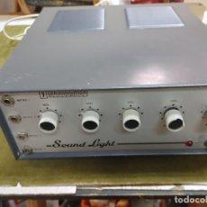 Radio antiche: RARO AMPLIFICADOR MEZCLADOR PHONOPHON SOUND LIGHT PARA CUATRO MICROS DE 2,5 A 250 SALIDA ALTAVOCES. Lote 266017303