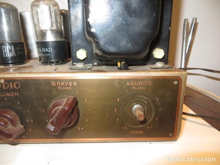 Radios antiguas: AMPLIFICADOR DE VALVULAS MUY ANTIGUO MODELO B-60 DESCONOZCO SI FUNCIONA,BARATO - Foto 4 - 267445869