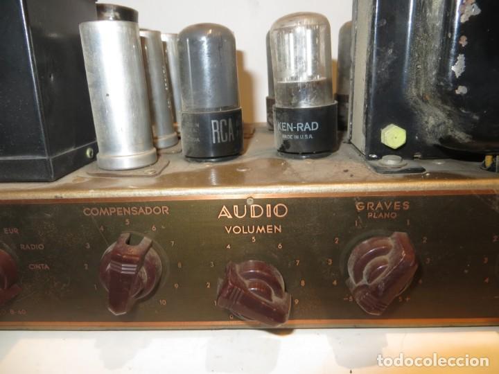 Radios antiguas: AMPLIFICADOR DE VALVULAS MUY ANTIGUO MODELO B-60 DESCONOZCO SI FUNCIONA,BARATO - Foto 5 - 267445869