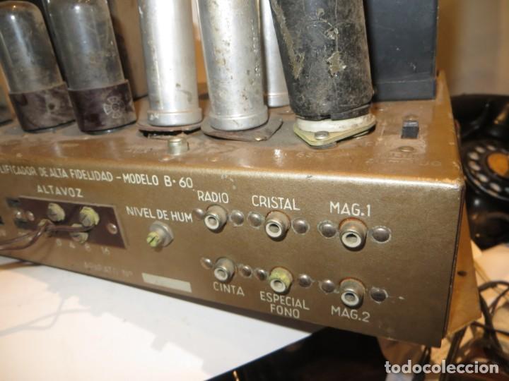 Radios antiguas: AMPLIFICADOR DE VALVULAS MUY ANTIGUO MODELO B-60 DESCONOZCO SI FUNCIONA,BARATO - Foto 12 - 267445869
