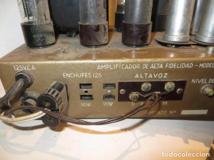 Radios antiguas: AMPLIFICADOR DE VALVULAS MUY ANTIGUO MODELO B-60 DESCONOZCO SI FUNCIONA,BARATO - Foto 14 - 267445869