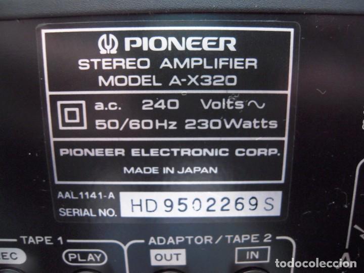 Radios antiguas: Estupendo Amplificador PIONEER Stereo amplifier A-X320 Revisado y Funcionando - Foto 7 - 267871809