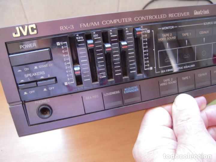 Radios antiguas: Estupendo AMPLIFICADOR Sintonizador con Ecualizador Estereo JVC RX3 BK Japan Vintage Funcionando - Foto 3 - 267873024