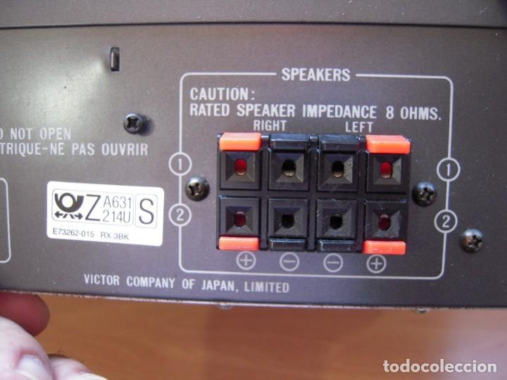 Radios antiguas: Estupendo AMPLIFICADOR Sintonizador con Ecualizador Estereo JVC RX3 BK Japan Vintage Funcionando - Foto 7 - 267873024