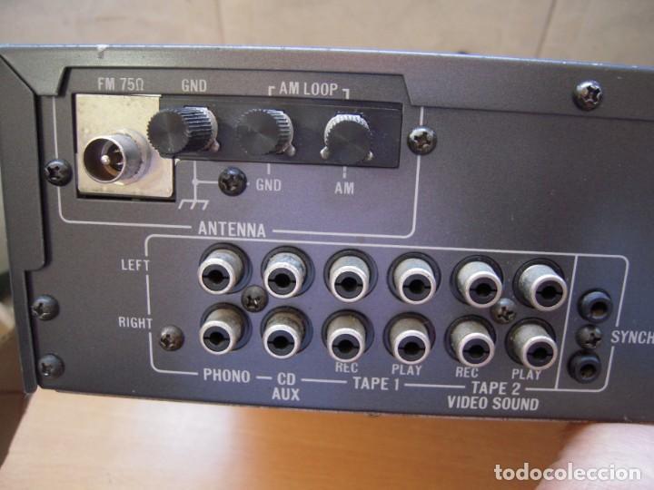 Radios antiguas: Estupendo AMPLIFICADOR Sintonizador con Ecualizador Estereo JVC RX3 BK Japan Vintage Funcionando - Foto 8 - 267873024