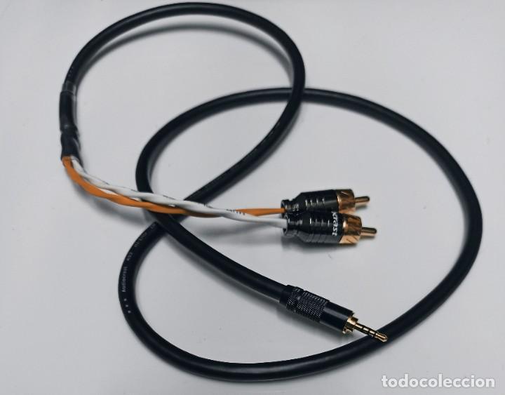 CABLE RCA BALANCEADO CON JACK MINI 2,5MM / 1M (Radios, Gramófonos, Grabadoras y Otros - Amplificadores y Micrófonos de Válvulas)