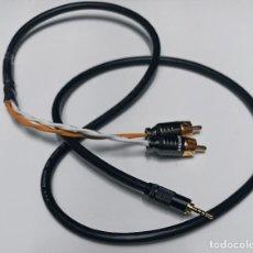 Radios antiguas: CABLE RCA BALANCEADO CON JACK MINI 2,5MM / 1M. Lote 268259604