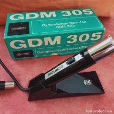 Radio antiche: MICRÓFONO GRUNDIG GDM 305 - EN CAJA ORIGINAL - COMO NUEVO , VINTAGE. Lote 273428613