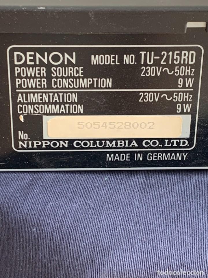 Radios antiguas: AMPLIFICADOR DENON TU-215RD PRECISION STEREO TUNER NIPPON COLUMBIA CO LTD MADE IN GERMANY 6X43X22CMS - Foto 10 - 274177958