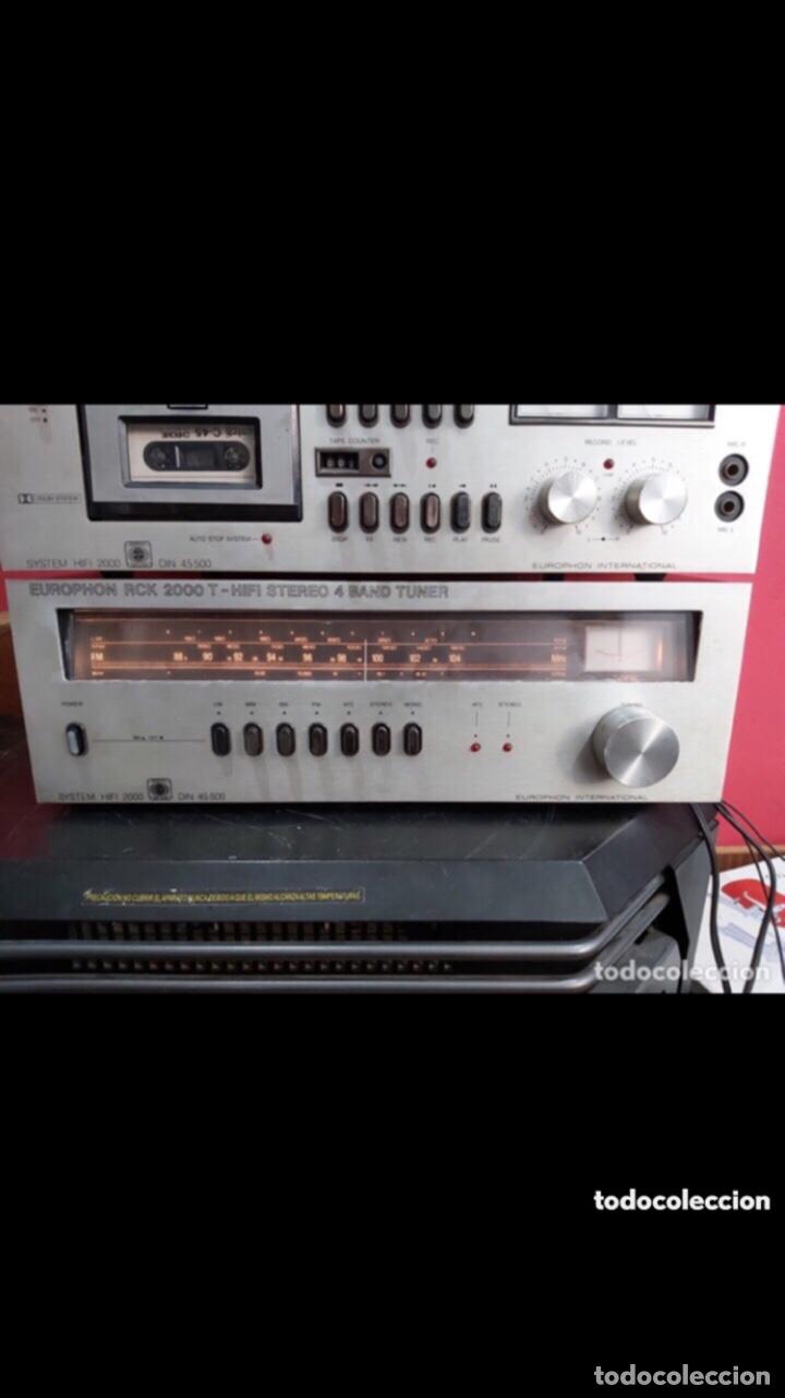 Radios antiguas: amplificador platina cassette europhon rck 2000. Ver las imágenes - Foto 2 - 275917973