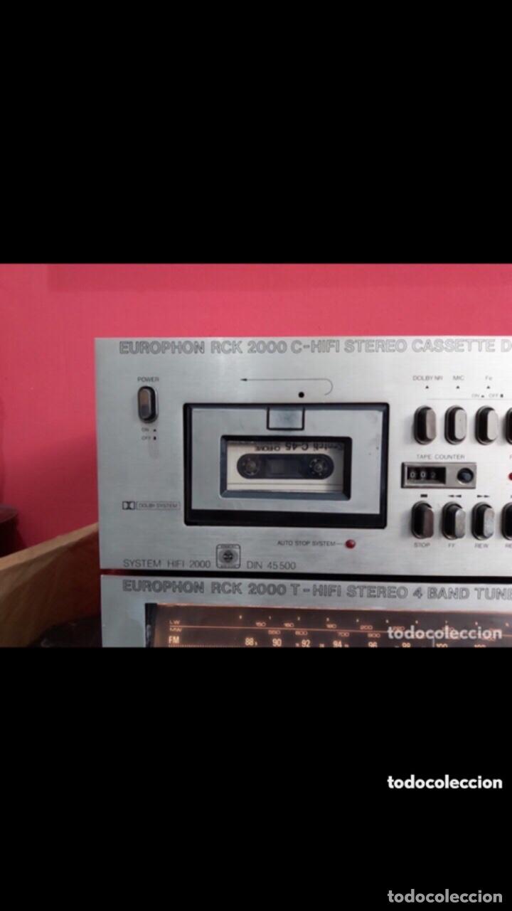 Radios antiguas: amplificador platina cassette europhon rck 2000. Ver las imágenes - Foto 3 - 275917973