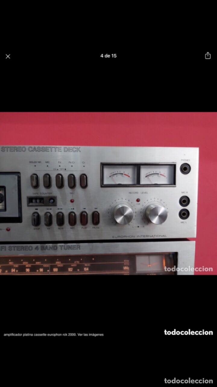 Radios antiguas: amplificador platina cassette europhon rck 2000. Ver las imágenes - Foto 4 - 275917973
