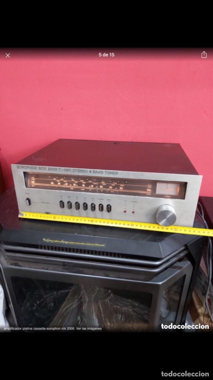 Radios antiguas: amplificador platina cassette europhon rck 2000. Ver las imágenes - Foto 5 - 275917973