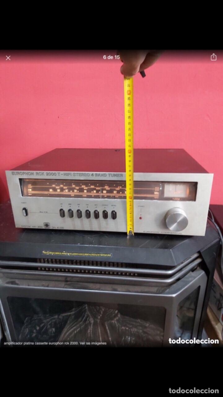 Radios antiguas: amplificador platina cassette europhon rck 2000. Ver las imágenes - Foto 6 - 275917973