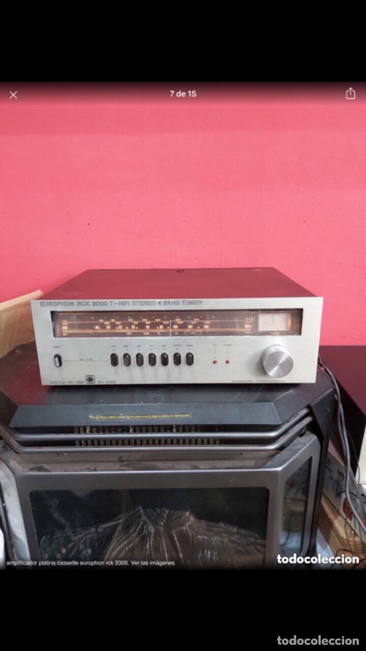 Radios antiguas: amplificador platina cassette europhon rck 2000. Ver las imágenes - Foto 7 - 275917973