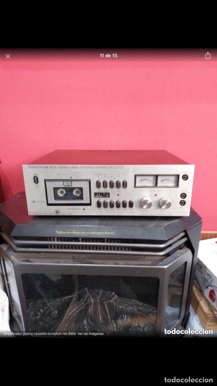 Radios antiguas: amplificador platina cassette europhon rck 2000. Ver las imágenes - Foto 11 - 275917973