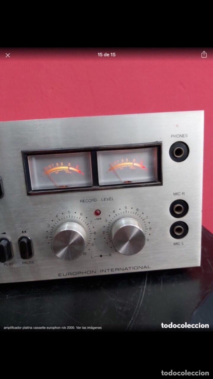 Radios antiguas: amplificador platina cassette europhon rck 2000. Ver las imágenes - Foto 16 - 275917973