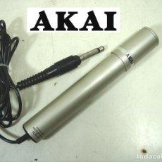 Radios antiguas: ANTIGUO MICROFONO GRABADORA- AKAI ADM-20 DYNAMIC -JACK 3.5- JAPAN 60S 70-ADM20 DINAMICO. Lote 277439318