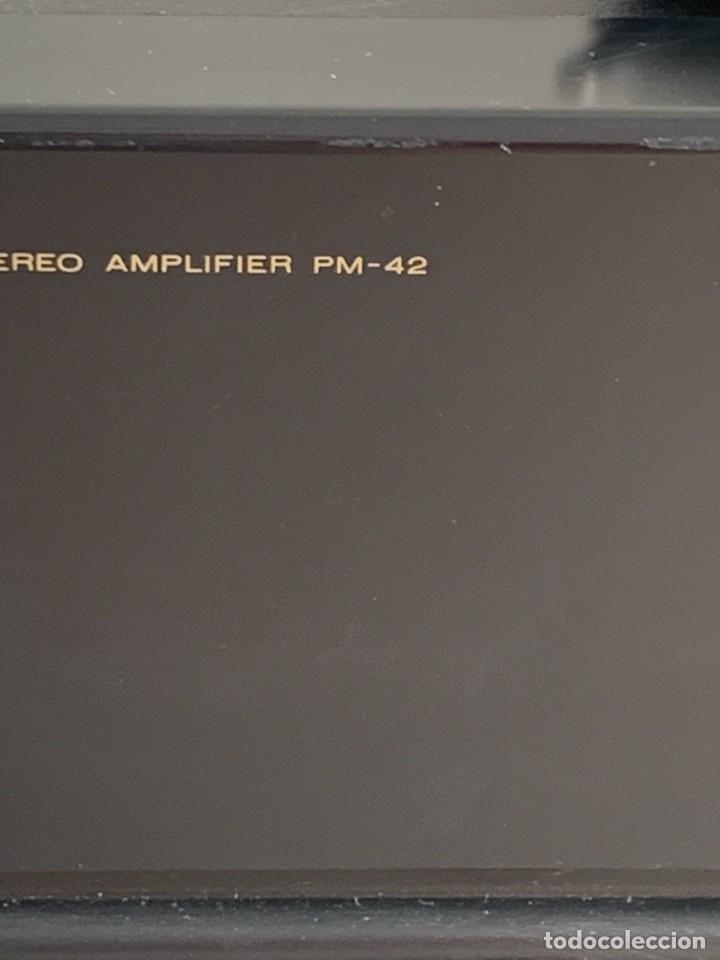 Radios antiguas: AMPLIFICADOR MARANTZ 74PM42/00B ESTEREO AMPLIFIER MADE IN JAPAN 12X41X28CMS - Foto 3 - 283627673