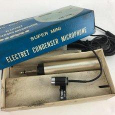 Radios antiguas: STEREO MICROPHONE ELECTRIC CONDENSER-*YU BRODER*-MOD:EM-704-A ESTRENAR-CON INSTRUCCIONES. Lote 286963858