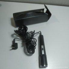 Radios antiguas: MICROFONO VINTAGE MADE IN JAPAN CON SU FUNDA DE CUERO. Lote 287464588