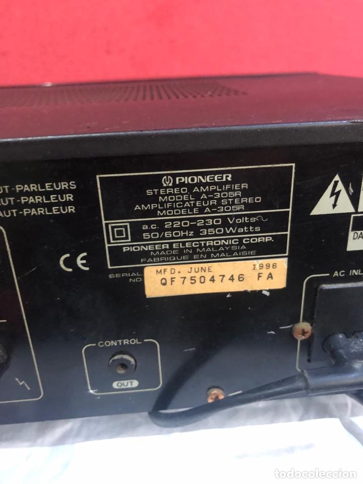 Radios antiguas: AMPLIFICADOR PIONEER STEREO modelo A-305R . Junio 1996 .Ver fotos - Foto 4 - 288361513