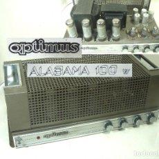 Radio antiche: AMPLIFICADOR SONIDO OPTIMUS ALABAMA 100W - A VALVULAS SPAIN AÑO 1968 - ANTIGUO AMPLI MEZCLADOR. Lote 291165743