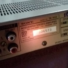 Radios antiguas: AMPLIFICADOR SONY TA-AX2. Lote 293321228