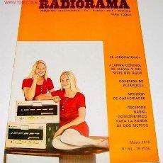 Radios antiguas: ANTIGUA REVISTA RADIORAMA - MAYO 1972 - 22,5 X 16 CMS. - 66 PAGINAS. Lote 25761716