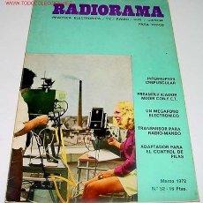 Radios antiguas: ANTIGUA REVISTA RADIORAMA - MARZO 1972 - 22,5 X 16 CMS. - 66 PAGINAS. Lote 705259