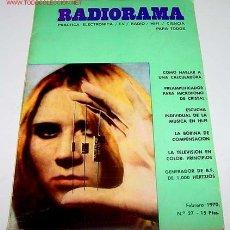 Radios antiguas: ANTIGUA REVISTA RADIORAMA - FEBRERO 1970 - 22,5 X 16 CMS. - 66 PAGINAS. Lote 705269