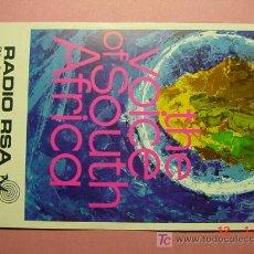 Radios antiguas: 605 QSL CARD TARJETA RADIO SUD AFRICA MIRA MAS EN MI TIENDA TC COSAS&CURIOSAS. Lote 4333566