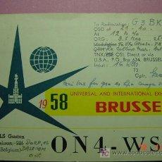 Radios antiguas: 621 QSL CARD TARJETA RADIO BELGIQUE BELGICA MIRA MAS EN MI TIENDA TC COSAS&CURIOSAS. Lote 5204039