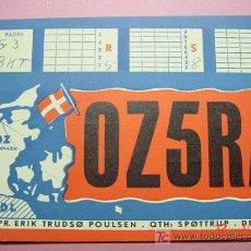 Radios antiguas: 624 QSL CARD TARJETA RADIO DINAMARCA DENMARK MIRA MAS EN MI TIENDA TC COSAS&CURIOSAS. Lote 4419079
