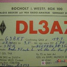 Radios antiguas: 628 QSL CARD TARJETA RADIO ALEMANIA GERMANY - MAS DE ESTE TIPO EN MI TIENDA COSAS&CURIOSAS. Lote 5963504