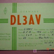 Radios antiguas: 630 QSL CARD TARJETA RADIO ALEMANIA GERMANY - MAS DE ESTE TIPO EN MI TIENDA COSAS&CURIOSAS. Lote 5963514