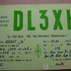 Radios antiguas: 633 QSL CARD TARJETA RADIO ALEMANIA GERMANY - MAS DE ESTE TIPO EN MI TIENDA COSAS&CURIOSAS. Lote 5938983