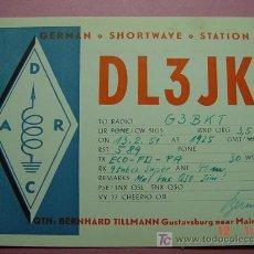 Radios antiguas: 636 QSL CARD TARJETA RADIO ALEMANIA GERMANY - MAS DE ESTE TIPO EN MI TIENDA COSAS&CURIOSAS. Lote 4639790