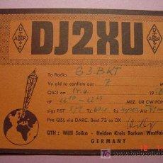 Radios antiguas: 644 QSL CARD TARJETA RADIO ALEMANIA GERMANY - MAS DE ESTE TIPO EN MI TIENDA COSAS&CURIOSAS. Lote 4639792