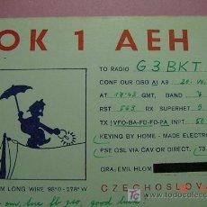 Radios antiguas: 655 QSL CARD TARJETA RADIO CHECOESLOVAQUIA - MAS DE ESTE TIPO EN MI TIENDA COSAS&CURIOSAS. Lote 4669357