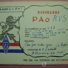 Radios antiguas: 647 QSL CARD TARJETA RADIO HOLANDA NETHERLANDS - MAS DE ESTE TIPO EN MI TIENDA COSAS&CURIOSAS. Lote 4669491