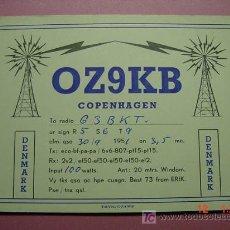 Radios antiguas: 653 QSL CARD TARJETA RADIO DINAMARCA DENMARK - MAS DE ESTE TIPO EN MI TIENDA COSAS&CURIOSAS. Lote 10851823