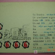 Radios antiguas: 635 QSL CARD TARJETA RADIO POLONIA POLSKA - MAS DE ESTE TIPO EN MI TIENDA COSAS&CURIOSAS. Lote 12311313