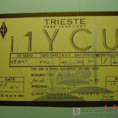 Radios antiguas: 7692 QSL CARD TARJETA RADIO ITALIA ITALY - MAS DE ESTE TIPO EN MI TIENDA COSAS&CURIOSAS. Lote 4689200