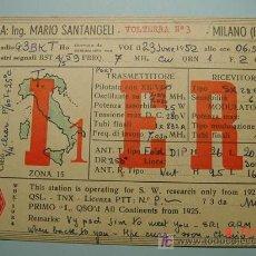 Radios antiguas: 7890 ITALIA ITALY QSL CARD RADIOAFICIONADO - MAS EN MI TIENDA COSAS&CURIOSAS. Lote 4713541