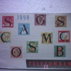 Radios antiguas: CATALOGO DE VENTA TELEFUNKEN 1959. Lote 26142833