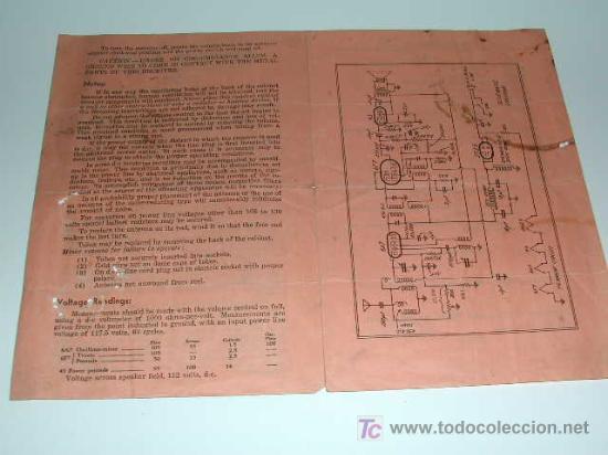 Radios antiguas: Folleto de Instrucciones operación Radio Años 1930. Emerson Radio Model 19 Chasis UV4 - Foto 2 - 26054773
