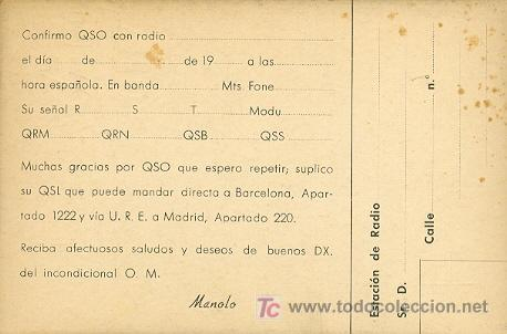 Radios antiguas: Tarjeta de EA3ID - Foto 2 - 5005022